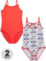 Very 2 Pack Paisley Floral Swimsuits