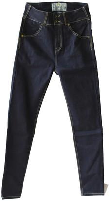 Tri Colour Federation Organic Cotton Pacific Blue Denim Waisted Slim Fit Jean