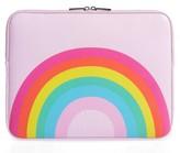 Skinny Dip Over The Rainbow 13-Inch Laptop Sleeve - Purple