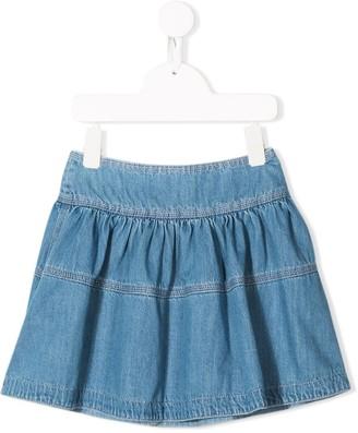 The Marc Jacobs Kids Flared Denim Mini Skirt