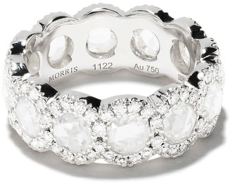 David Morris 18kt white gold diamond Rose Cut Full Eternity ring