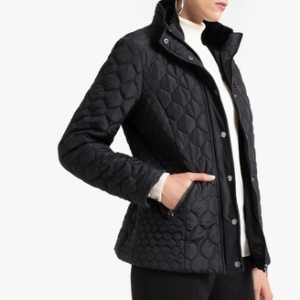 Anne Weyburn Quilted Zip-Up Parka with Pockets