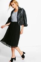 Boohoo Savannah Chiffon Pleated Midi Skirt
