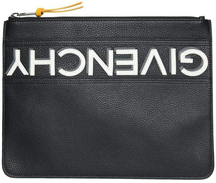 Givenchy Logo Reverse Leather Pouch