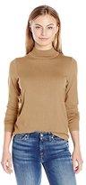 Pendleton Women's Petite Washable Silk-Blend Mock Turtleneck Sweater