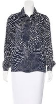 Tibi Silk Dot Print Top
