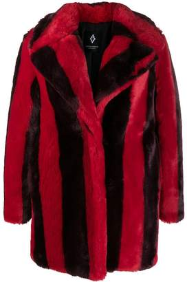 Marcelo Burlon County of Milan striped faux-fur coat
