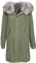 Mr & Mrs Italy Lapin Fur Army Parka