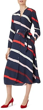Hobbs London Ginnie Striped Shirt Dress