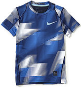 Nike Big Boys 8-20 Dri-FIT Printed Fitted AOP Short-Sleeve Tee