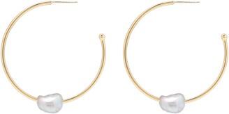 Gorjana Perla Imitation Pearl Hoop Earrings