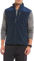 Daniel Cremieux Club 38 Pinnacle Textured Full-Zip Fleece Vest