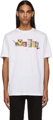 Paul Smith White Oil Cans T-Shirt