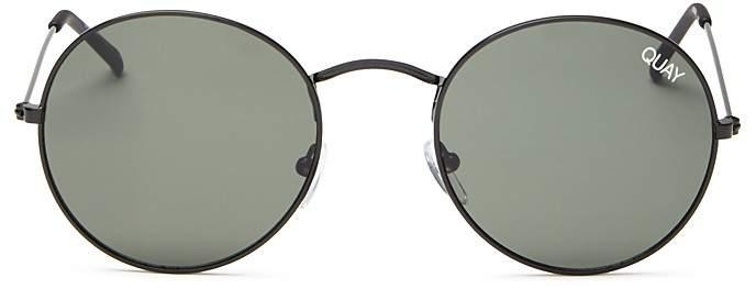 Quay Mod Star Round Sunglasses, 50mm