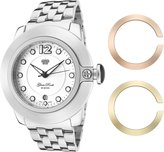 Glam Rock Women's GR32051 SoBe White Dial Stainless Steel Watch