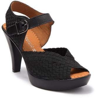 Bernie Mev. Broadway Basket Woven Peep Toe Stiletto Sandal