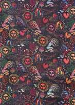 Paul Smith Men's 'Psychedelic Sun' Print Silk-Blend Tubular Scarf