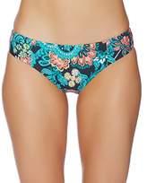 Splendid Women's Farmhouse Floral Reversible Retro Pant Bikini Bottom