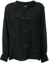 Isabel Marant studded Otto blouse - women - Silk/Brass - 38
