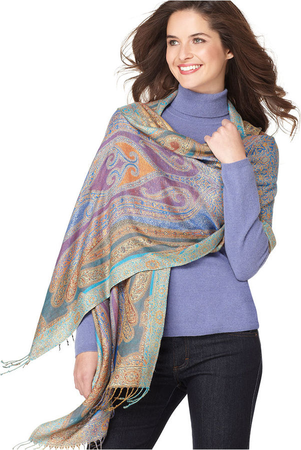 Collection XIIX Paisley Wrap Shimmer Scarf