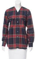 Timo Weiland Plaid Baseball Shirt w/ Tags