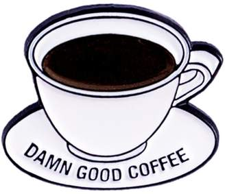 Make Heads Turn Enamel Pin Damn Good Coffee