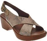 Dansko As Is Leather Criss Cross Strap Sandals - Jacinda
