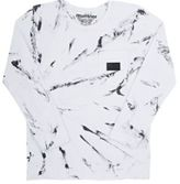 Munster Men's Marble-Print Jersey Long-Sleeve T-Shirt-WHITE
