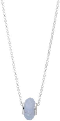 Katie Belle Libbie Sterling Silver Charm Necklace - Blue Lace Agate