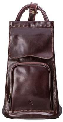 Maxwell Scott Bags Maxwell Scott Womens Italian Leather Sling Rucksack - Carli Brown