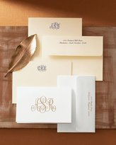Boatman Geller 25 Monogrammed Correspondence Cards with Personalized Envelopes
