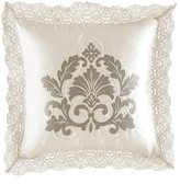 "Waterford Colleen Silver Square Pillow, 14"" x 14"""