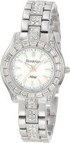 Swarovski Armitron Women's 75/5053MPSV Crystals Accented Round Silver-Tone Bracelet Watch