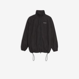Balenciaga Zip-up jacket in black cotton poplin