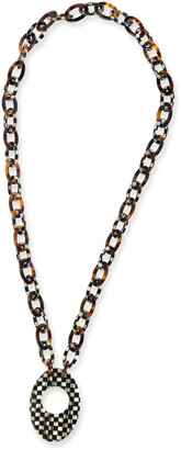 Mackenzie Childs Liaison Courtly Check Reader Necklace