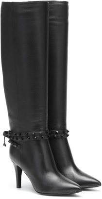 Valentino Rockstud Flair over-the-knee leather boots