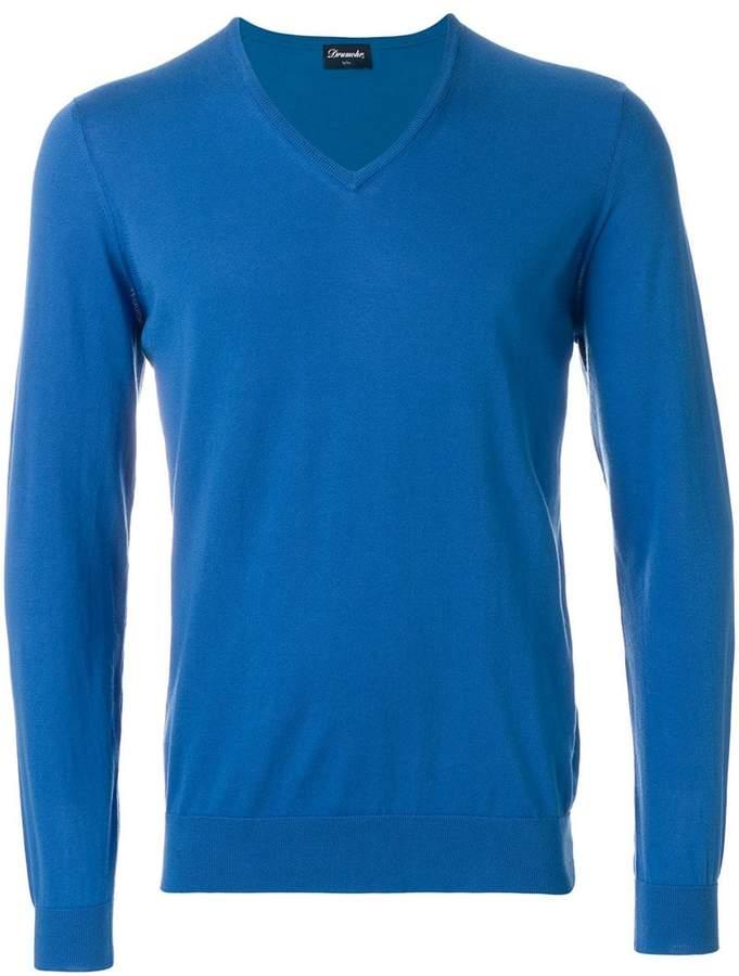 Drumohr V-neck slim fit jumper
