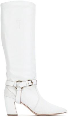 Miu Miu Side Buckle Pointed Toe Boots