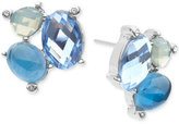 lonna & lilly Faceted Stone Cluster Stud Earrings