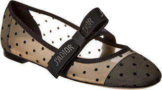 Christian Dior Mis J'adior Dotted Swiss Tulle Ballet Flat