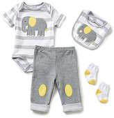 Starting Out Baby Boys Newborn-9 Months Elephant-Appliqued 4-Piece Layette Set