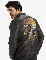 Lucky Brand Triumph Tiger Bonneville Leather Jacket