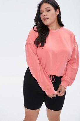 Forever 21 Plus Size Boxy Fleece Sweatshirt