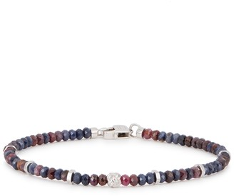 Tateossian Sapphire large beaded bracelet
