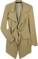 Asymmetric crepe drape jacket