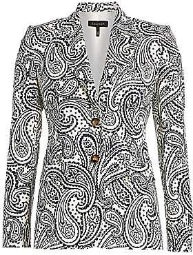 Escada Women's Bick Paisley Stretch Cotton Blazer