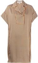 Diane von Furstenberg geometric short-sleeve mini dress