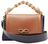 Anya Hindmarch Rope Bow Leather Shoulder Bag - Womens - Tan Multi