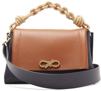 Anya Hindmarch Rope Bow Leather Shoulder Bag - Tan Multi