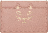 Charlotte Olympia Pink Feline Card Holder